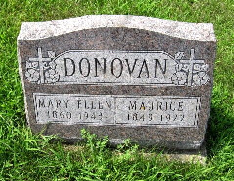 Maurice and  Mary Ellen Shanahan headstone